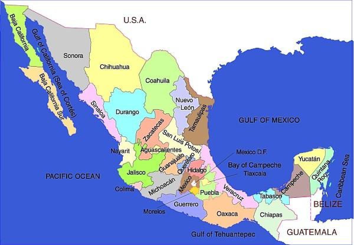 地図のメキシコ州